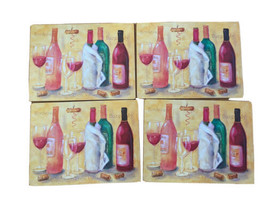 Lady Clare Wine Glasses Placemats Set Of 4 Bordeaux Lorie Valley Burgund... - $49.99