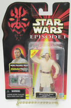 Star Wars Qui-Gon Jinn Jedi Master w/Lightsaber and Comlink Action Figur... - $13.99
