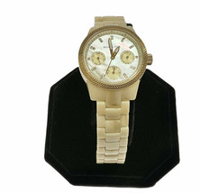Michael Kors Watch MK5400 Mother Of Pearl Crystal Ceramic Band Wristwatch - $73.87