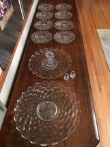 Fostoria American Clear glass 'LOT' 12 pcs. incl. 8 salad plates and 2 t... - $88.11