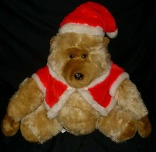 "14"" VINTAGE CHRISTMAS MTY INTERNATIONAL BROWN MONKEY STUFFED ANIMAL PLUS... - $32.73"