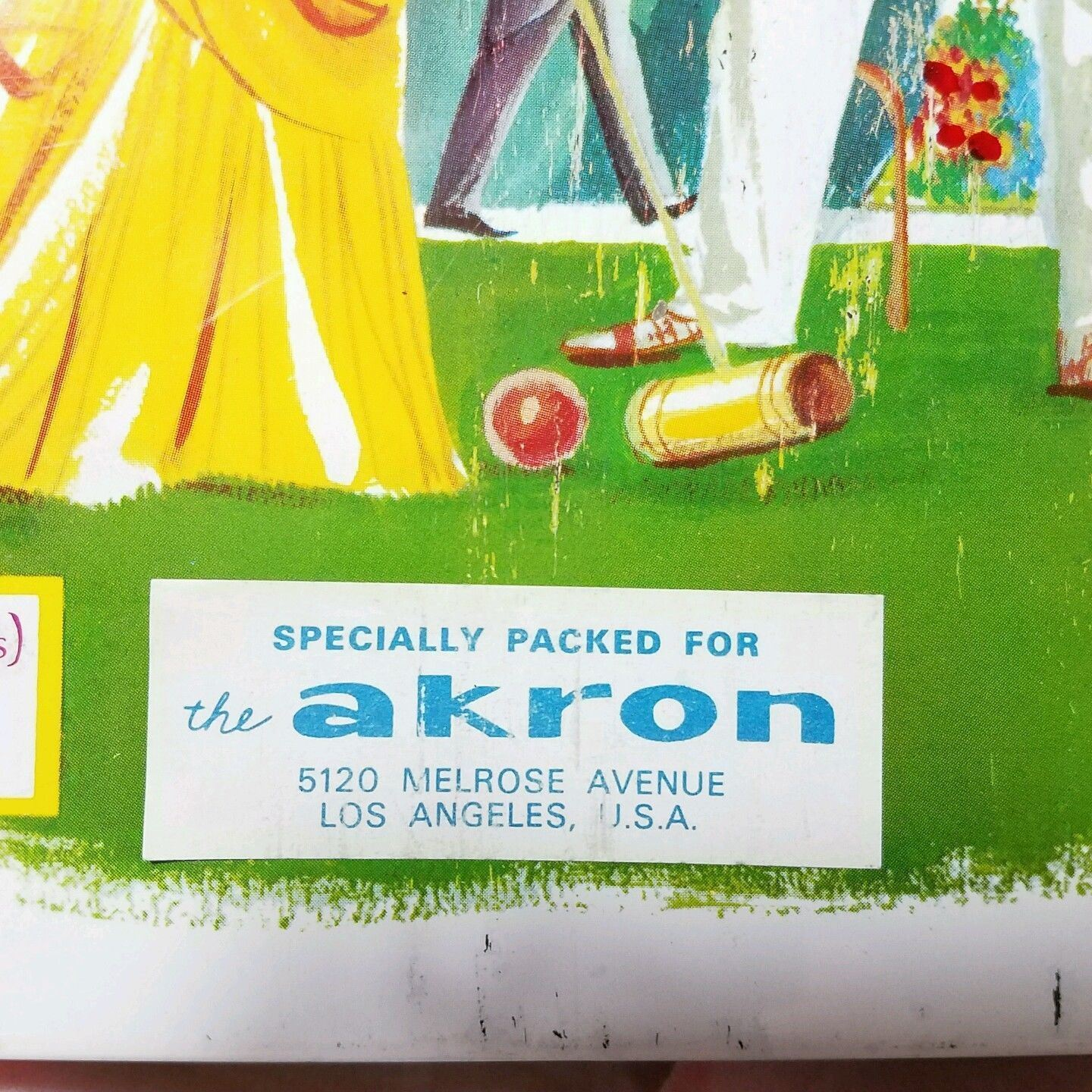 Vtg 1950 Biscuit Tin Made In England For The Akron Store