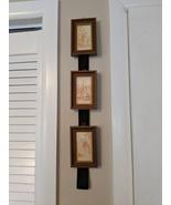 Vintage H K Antiqued Collection 3 Mini Sepia Portraits on Velvet Ribbon - $21.00