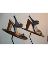 Women's CLAUDIA CIUTI Women's Lapis Faux-Croc Strappy Heel Sz. 8M BEAUTI... - $44.54