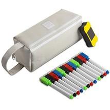 Airnogo 12 Pieces Magnetic Dry Erase Markers Big Capacity Pencil Pen Cas... - $13.47
