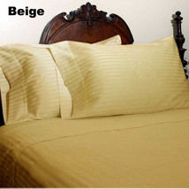 Extra Deep Pocket 6 PC Sheet Set 1200TC Egyptian Cotton US-Size Beige St... - $62.63+