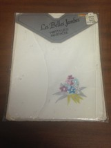Les Belles Jambes Women's White Small Footed Tights Pantyhose w/ Flower ... - $3.99