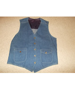 VTG-New 1970s Lee Set Denim Jean Vest Sanforized Sanfor Set  Waistcoat 42R - $139.89