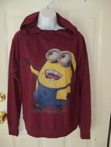 Universal Studios Despicable Me Minion Made Burgundy Wine Sweatshirt Siz... - $27.00