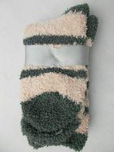 Charter Club Metallic Super Soft Plush Socks Pink Grey Glitter Stripe 9-11 NWT image 3