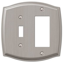 Toggle Switch Rocker GFCI Wall Plate Cover - Brushed Nickel - $14.52