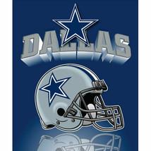 Dallas Cowboys Blanket Fleece Throw By Northwest Gridiron Series Nwt - $18.65