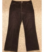 J Jill Women's Pants Size 14-P Petite Brown Stretch Corduroy Tried & Tru... - $19.79