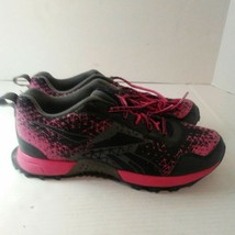 Reebok Duraride Womens Gray Black and Pink Running Sneakers Size 9 - $34.65