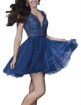 2019 Mini Length Sexy Tulle Prom Dresses Open Back Lace Short Homecoming Gowns - $112.99