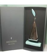 Tea Forte LUSSO Platinum Plated Tea Infuser Pyramid Turquoise Ceramic Tr... - $69.99