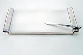Michael Wainwright Platinum  White Cheese Tray & Knife Set Stainless Amalfi NEW - $148.50
