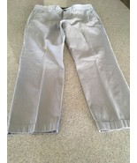 Men's Tommy Hilfiger Tailored-Fit Gray Cotton Chinos (36W X 30L) - $14.96