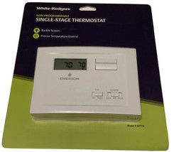 White Rodgers  Heating and Cooling    Single Stage Thermostat Non Programmable - $33.00