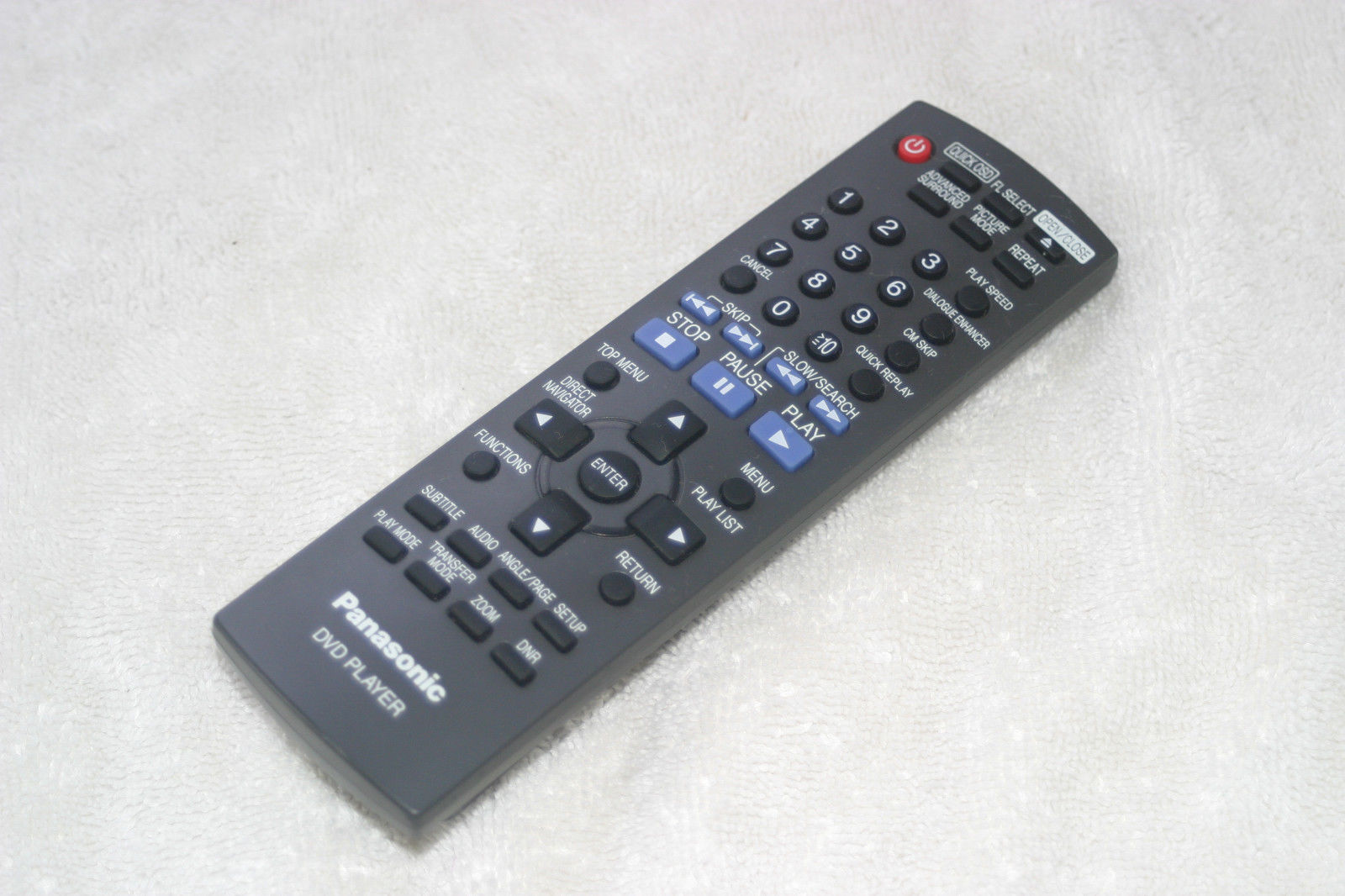 Original Panasonic EUR7631240 Remote Control for DVD-S53 DVDS53/K DVDS53P Tested