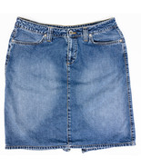 Mavi Jeans Cara Low Rise Knee Length Jean Skirt Medium Wash Size XL  - $14.96