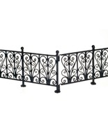 DOLLHOUSE MINIATURES 6 Pc Black Wrought Iron Fence Set #EIWF528 - $49.99