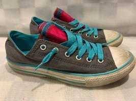 CONVERSE All Star Low Juniors Shoes Size 5 Gray Blue 647672F - $14.25