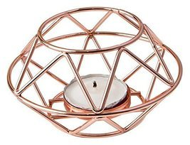 Fashioncraft 8742 Geometric Design Rose Gold Metal Tealight Candle Holder - $191,85 MXN