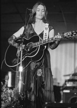 Emmylou Harris 1970's Grand Ole Opry on stage playing guitar 5x7 inch photo - $5.75