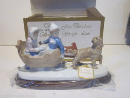 THE PAUL SEBASTION COLLECTION FINE PORCELAIN FIGURINE THE SLEIGH RISE W/BOX - $9.99
