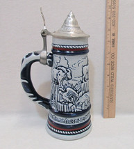 Avon Beer Stein Lidded Goat Condor Eagle Moose Falcon Bighorn Sheep Vintage - $15.83