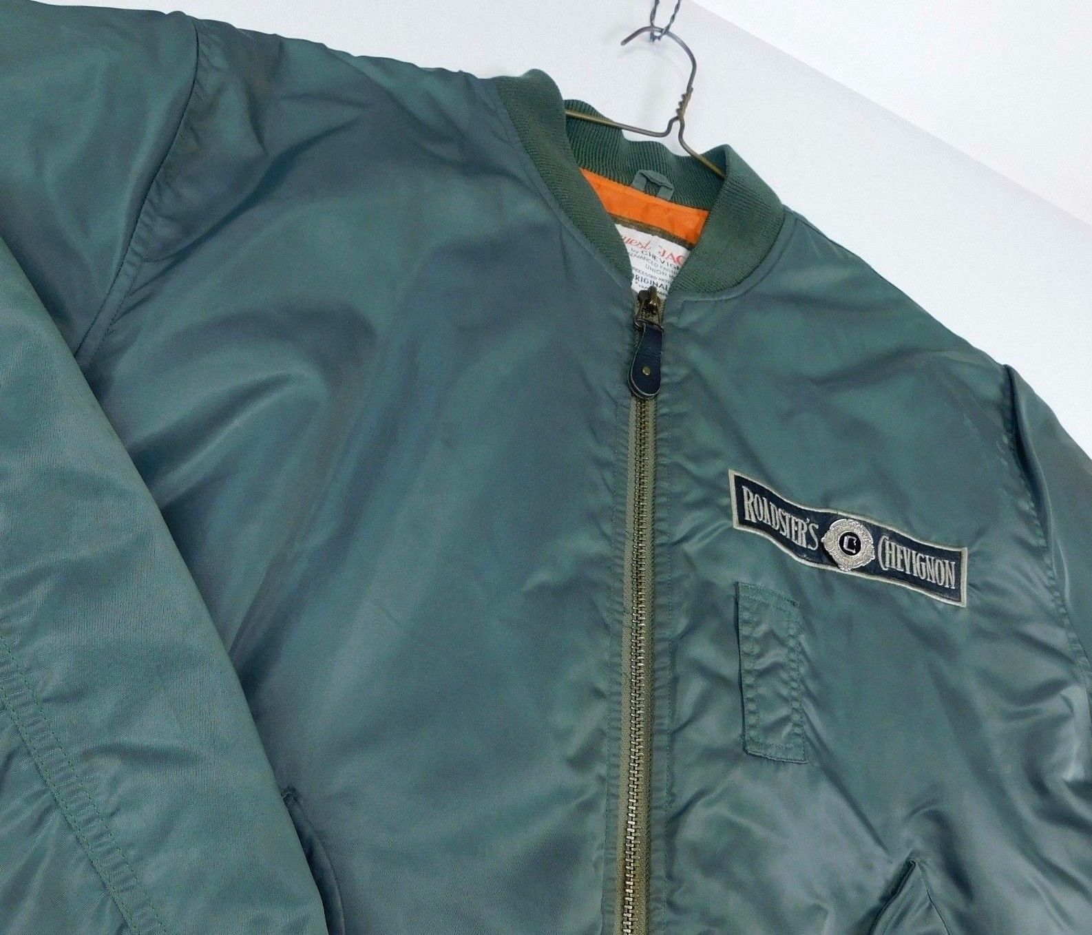 Primary image for Conquest Jack Chevignon Roads International Roadster's Sz XL Green Bomber Jacket