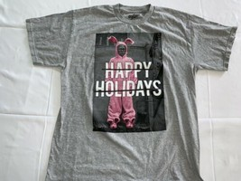 A CHRISTMAS STORY Ralphie In Pink Bunny Suit  T Shirt Large Happy Holidays - $13.29