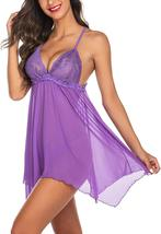 Avidlove Women Lingerie Lace Babydoll Sexy Nightgown Sheer Sleepwear image 3