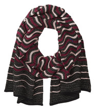 NWT Missoni Orange Label Pink Maroon Wavy Stripe 69 inch Knit Wool Blend... - $131.70 CAD
