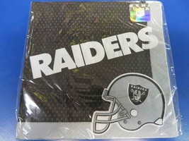 Oakland Raiders NFL Pro Football Sports Banquet Party Paper Luncheon Napkins - $8.17