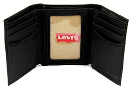Levi's Men's Premium Coated Leather Credit Card Wallet Embossed Logo Black image 4