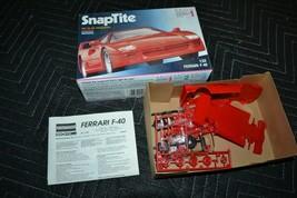 Monogram RED Ferrari F-40 SnapTite 1:32 Model Kit #1065OPEN Box Skill 1 No Glue - $18.69