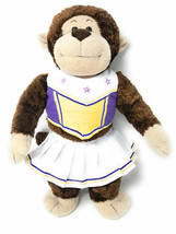 "Build a Bear Workshop brown/beige plush Monkey with Cheerleader Outfit 18"" - $13.99"