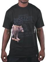 Dissizit Hombre Negro Cali Crucero Oso Skate Camiseta SST12-595 Nwt