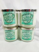 "4 Bath & Body Works ""White Mint Latte"" 3-Wick  Candle Large 14.5 oz  - $84.95"
