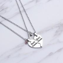 2 Pcs Women's Fashion Necklace Set Rhinestone Decor Patchwork Accessories - $8.99