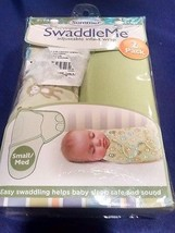 New Summer Infant SwaddleMe 2 PK Cotton Knit - 7-14 lb. Green - Free Shi... - $19.59