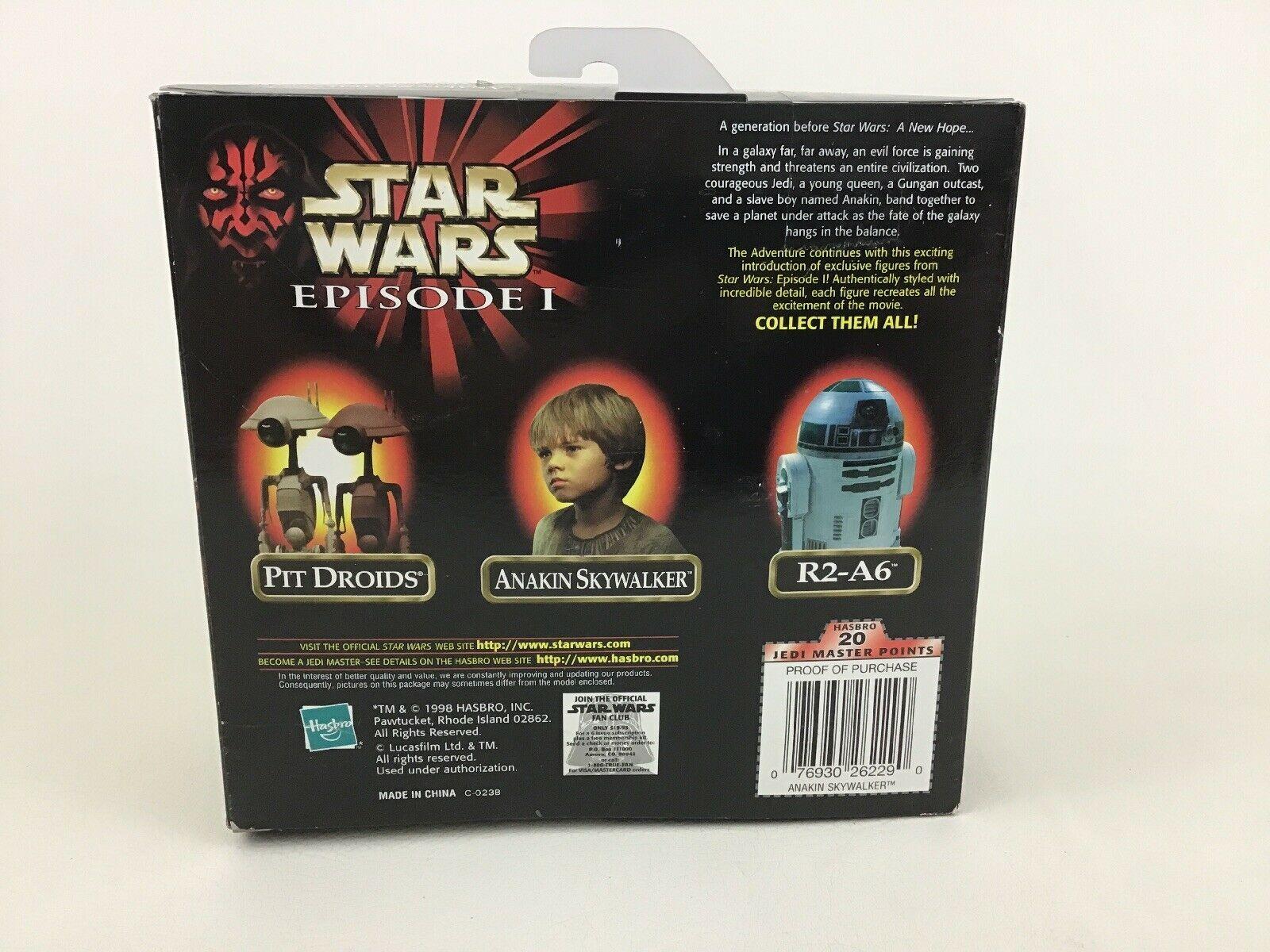 "Anakin Skywalker Action Figure 12"" Scale Star Wars Episode 1 Hasbro 1998"