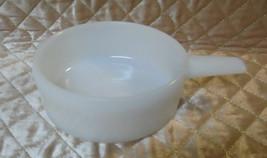Retro Jeanette White Oven Ware Milk Glassbake Handled Soup Crock 14 oz J... - $7.65