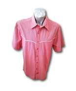 Third Rail Lost Angels Western Sz XL Red Checkerboard Shirt  - $24.74