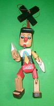 "Pinocchio Marionette Puppet  Hand Carved Wood Large 16"" Disney  Pinochio - $49.99"