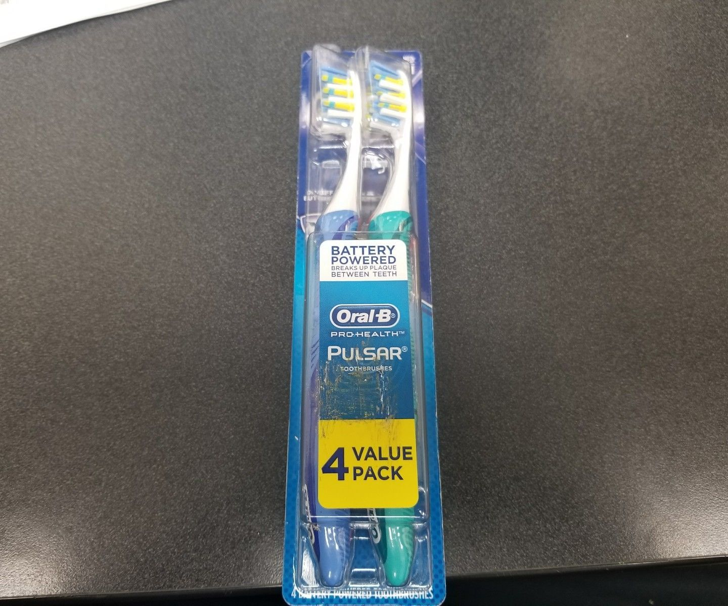 Oral B Pro Health Pulsar Toothbrushes Battery Powered Value 4 Pack New