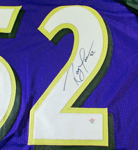 RAY LEWIS / NFL HALL OF FAME / AUTOGRAPHED BALTIMORE RAVENS CUSTOM JERSEY / COA image 4