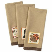 """Dii Cotton Thanksgiving Holiday Dish Towels, 18X28"""" Set Of 3, Decorative... - $18.80"""